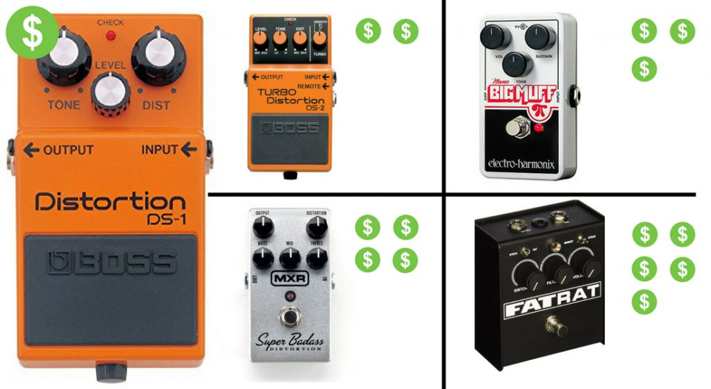 What is the Average Price for a Distortion Pedal